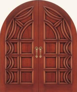 Metropolitan Collection Carved Wood Exterior Door (2107)