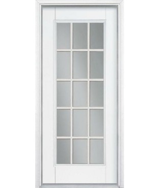 Belleville 1 panel fiberglass smooth exterior door bls122 for Belleville fiberglass doors