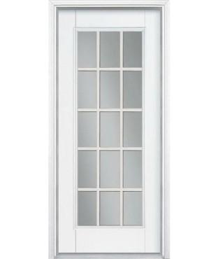Belleville 1 Panel Fiberglass Smooth Exterior Door Bls122