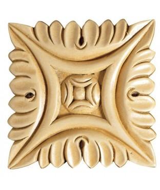 """4"""" Medium Square Wood Rosette (CRV5164)"""