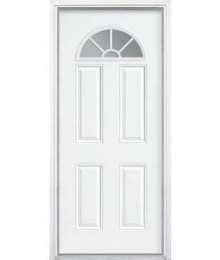 Belleville 4 panel fiberglass smooth exterior door bls135 for Belleville fiberglass doors
