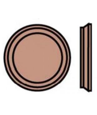 Wood Round Rosette (7017)