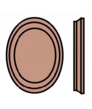 Wood Oval Rosette (7237)