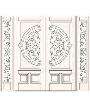 Manorgate Collection Wrought Iron Exterior Door (732)