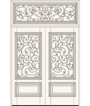 Manorgate Collection Wrought Iron Exterior Door (736)