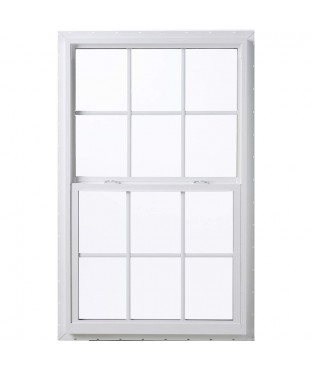 Vinyl  Double Hung Window, 37 X 57, White, With Full Screen