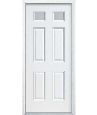 Belleville 6 panel fiberglass smooth exterior door bls680 for Belleville fiberglass doors
