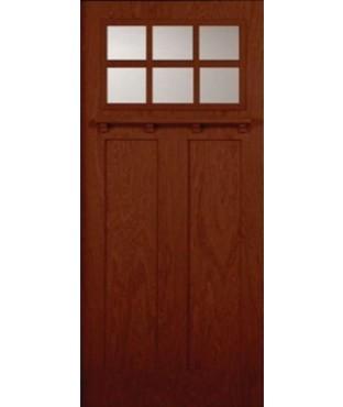 Architectural Craftsman 2 Panel Fiberglass Mahogany Exterior Door (AC-818)