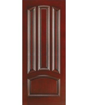 Architectural 4 Panel Fiberglass Mahogany Exterior Door (AM-40)