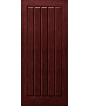 Architectural Plank 1 Panel Fiberglass Mahogany Exterior Door (AP-14)