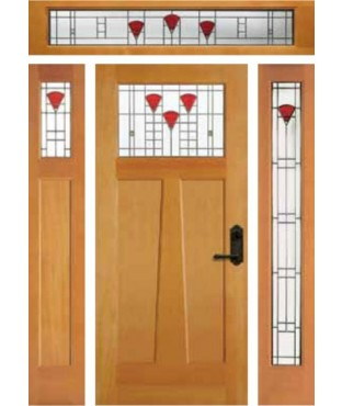Artist Collection California Poppy Exterior Door (6981)