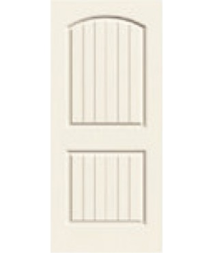 Cashal Primed 2 Panel Smooth Plank Door