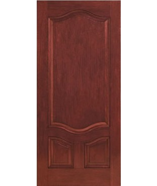 Classic-Craft 3 Panel Fiberglass Mahogany Exterior Door (CCM701)