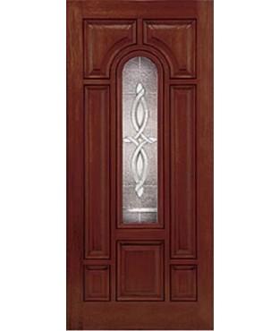 Classic-Craft 8 Panel Fiberglass Mahogany Exterior Door (CCM803)