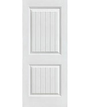 Corvado Primed 2 Panel Smooth Plank Door