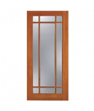 F 1309 1 Panel 9 Lite Fir French Door