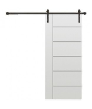 3 horizontal grooves 1 vertical groove primed smooth finished barn door with Hardware Kit (SL130  sc 1 st  CM Windows and Doors & f7436fc3-f149-4bfb-bb99-a2218cdcc126_300.jpg