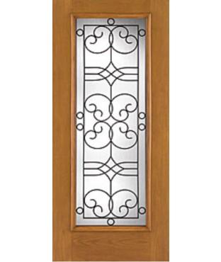 Fiber-Classic 1 Panel Fiberglass Oak Exterior Door (FC113)