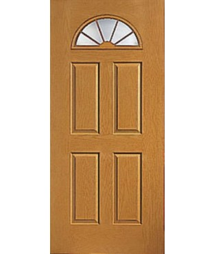 Fiber-Classic 4 Panel Fiberglass Oak Exterior Door (FC23)