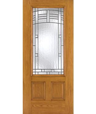 Fiber-Classic 3 Panel Fiberglass Oak Exterior Door (FC902)