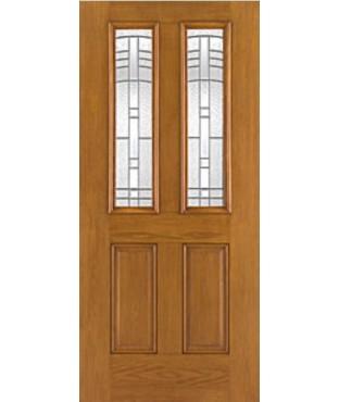 Fiber-Classic 4 Panel Fiberglass Oak Exterior Door (FC903)