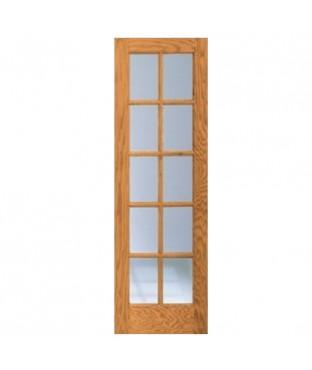 Oa 1510 1 panel 10 lite oak french door for 10 panel french door