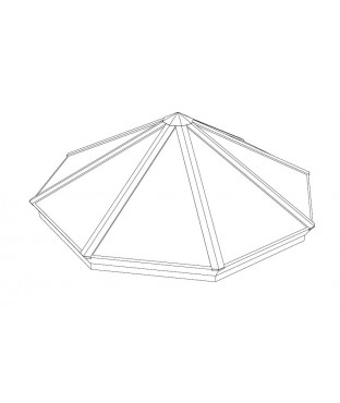 Classic Octagonal Pyramid Structural Skylight (COPY)