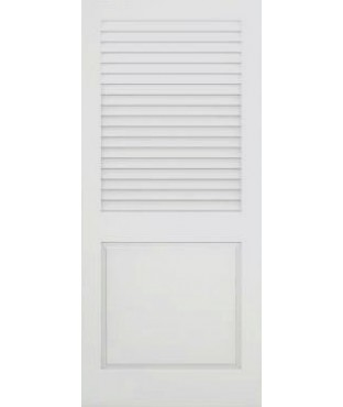 Plantation Primed Open Louver Panel Smooth Door B 732 Plant
