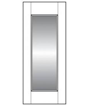 Reflection Series Mirror Panel Smooth Door
