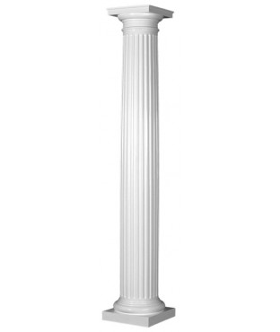 Round Tapered Fluted Fiberglass Column Fl