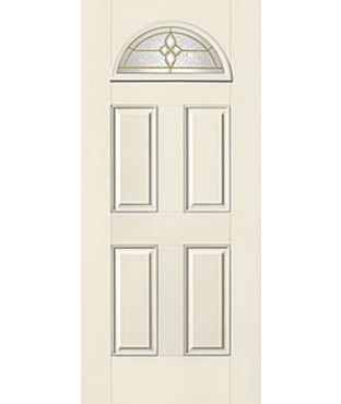 Smooth-Star 4 Panel Fiberglass Smooth Exterior Door (S454)
