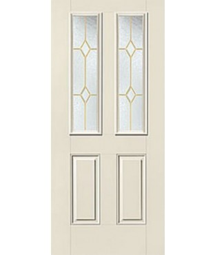 Smooth-Star 4 Panel Fiberglass Smooth Exterior Door (S730)
