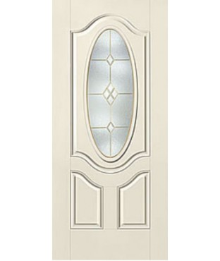 Smooth-Star 3 Panel Fiberglass Smooth Exterior Door (S772)