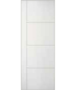 3 horizontal grooves 1 vertical groove primed smooth finished door (SL130)