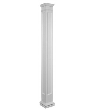 Square Non Tapered Recessed Panel Fiberglass Column Sqre