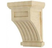 "7"" Fluted Wood Corbel (COR04X04X07FL)"