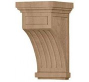 "10"" Fluted Wood Corbel (COR05X05X10FL)"