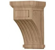"13"" Fluted Wood Corbel (COR07X07X13FL)"