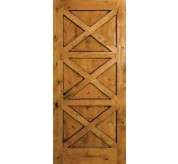 Estate Collection Handhewn Knotty Alder Exterior Door (1234)