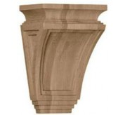 "9"" Arts and Crafts Wood Corbel (COR06X04X09AR)"