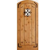 Estate Collection Segment Top Wire Brushed Knotty Alder Exterior Door (1313)