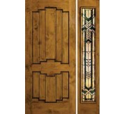 Estate Collection Handhewn Clear Alder Exterior Door (1390)