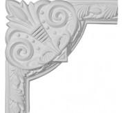 Milton Running Leaf Urethane Panel Corner Moulding (PML09X09MI-2)