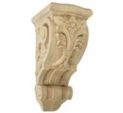 "15"" Large Floral Wood Corbel (COR06X07X14FL)"
