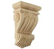 "11"" Traditional Leaf Wood Corbel (COR07X03X10TR)"
