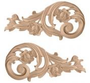 "10"" Medium Rose Wood Scrolls (ONL09X04X01RO)"