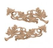"12"" Medium Grape Wood Scrolls (ONL11X04X01GR)"