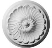 "13"" Flower Spiral Urethane Ceiling Medallion (CM12FL)"
