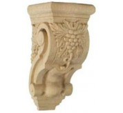 "8"" Small Grape Bunches Wood Corbel (COR03X04X07GR)"