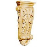 """14"""" Large Acanthus with Shell Wood Corbel (CRV5120)"""